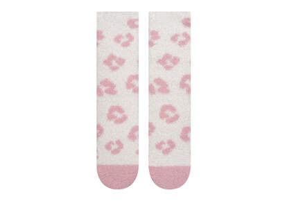 Cozy Crew  Socks Pink Leopard