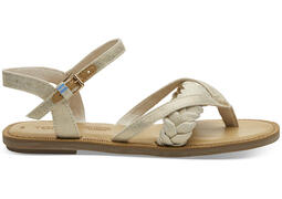 Natural Shimmer Canvas Women's Lexie Sandals