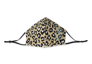 Double Layered Face Mask Blue Leopard