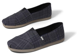 Charcoal Plaid Cloudbound™ Alpargatas