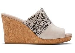 Macadamia Cheetah Monica Wedge Mule