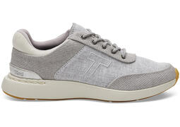 Drizzle Grey Canvas with Slub Chambray Women's Arroyo Sneakers