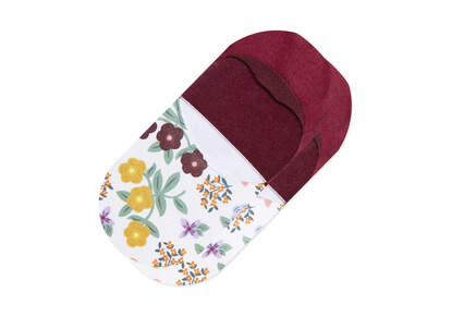 Ultimate No Show Socks Floral