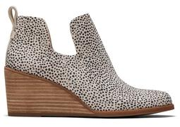 Mini Cheetah Suede Kallie Wedge Bootie