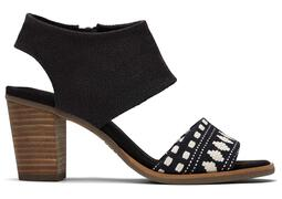 Black Global Woven Majorca Sandal