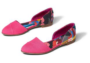 Jutti D'Orsay Flat Curation Made With Liberty Fabric