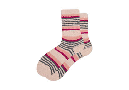 Cozy Cushioned Crew Socks Pink