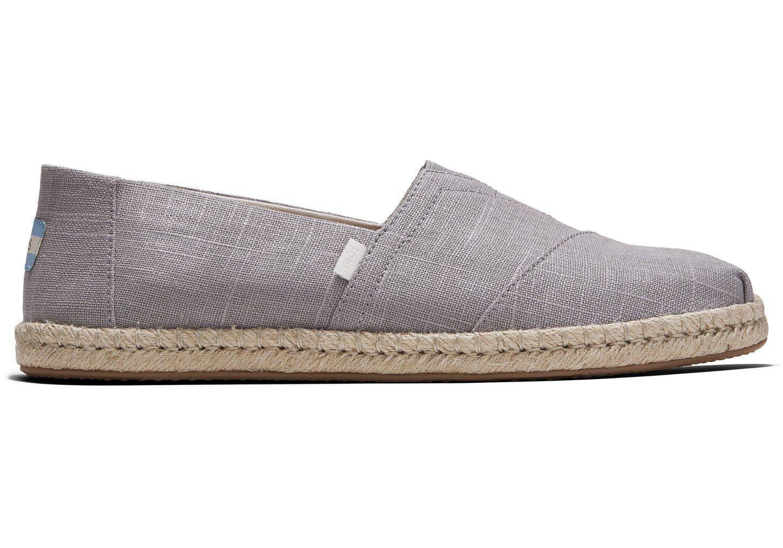 Grey Linen Mens Espadrille Alpargatas
