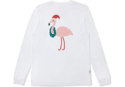 Holiday Flamingo Long Sleeve