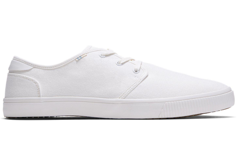 White Canvas Mens Carlo Sneakers
