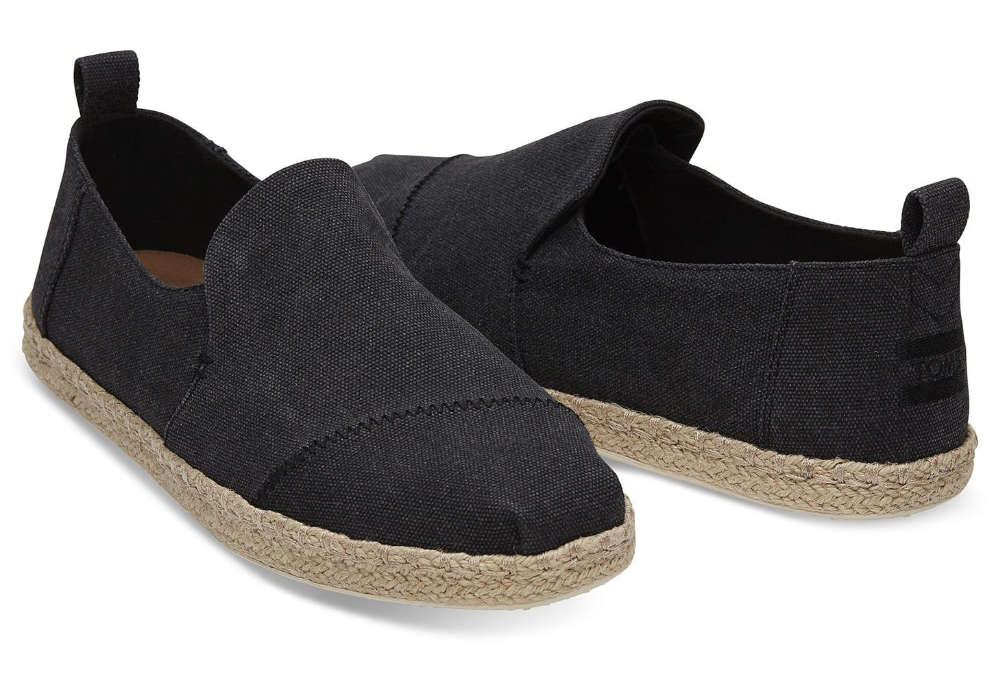 Black Washed Canvas Mens Deconstructed
