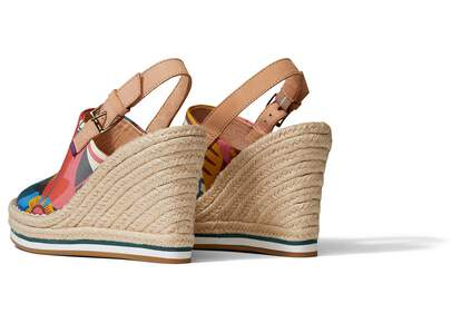 Monica Wedge Heel Curation Made With Liberty Fabric