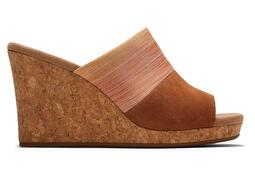 Tan Ombre Monica Wedge Mule