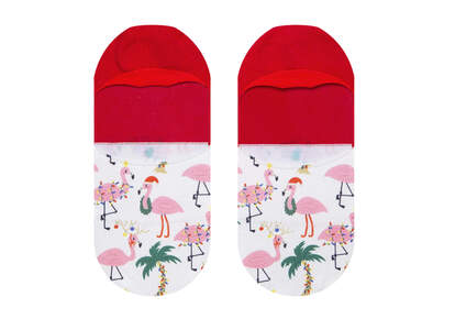 Ultimate No Show Socks Flamingos
