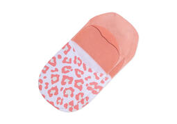 Ultimate No Show Socks Pink Leopard