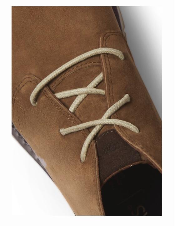 Close-up top view of men's Navi boot.