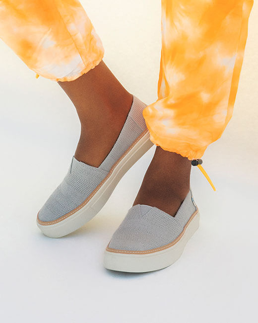 Drizzle grey Parker Slip Ons shown.
