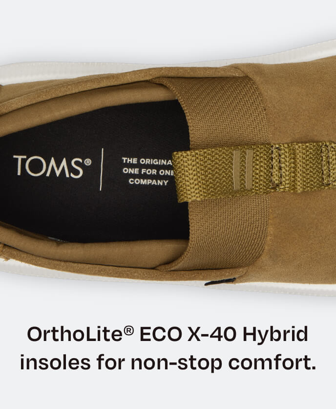 OrthoLite® ECO X-40 Hybrid insoles for non-stop comfort. Top view of Alpargata Rover insole shown.