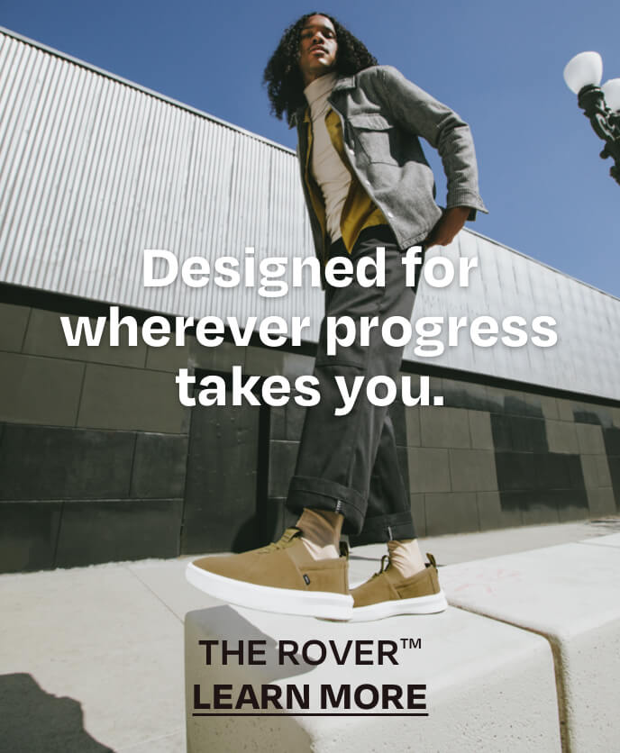 Designed for wherever progress takes you. THE ROVER. LEARN MORE.  Models wearing Alpargata Rover in dirty olive shown.