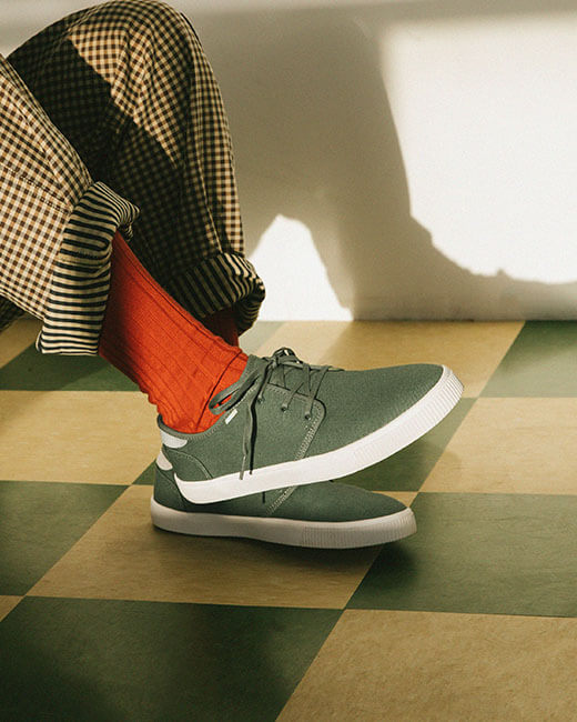 Green Bonsai Carlo Sneakers shown.