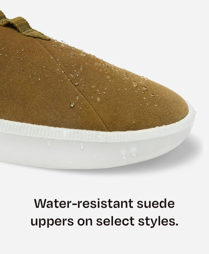 Water-resistant suede uppers on select styles. Alpargata Rover in dirty olive shown.