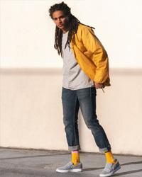 Man wearing shoes