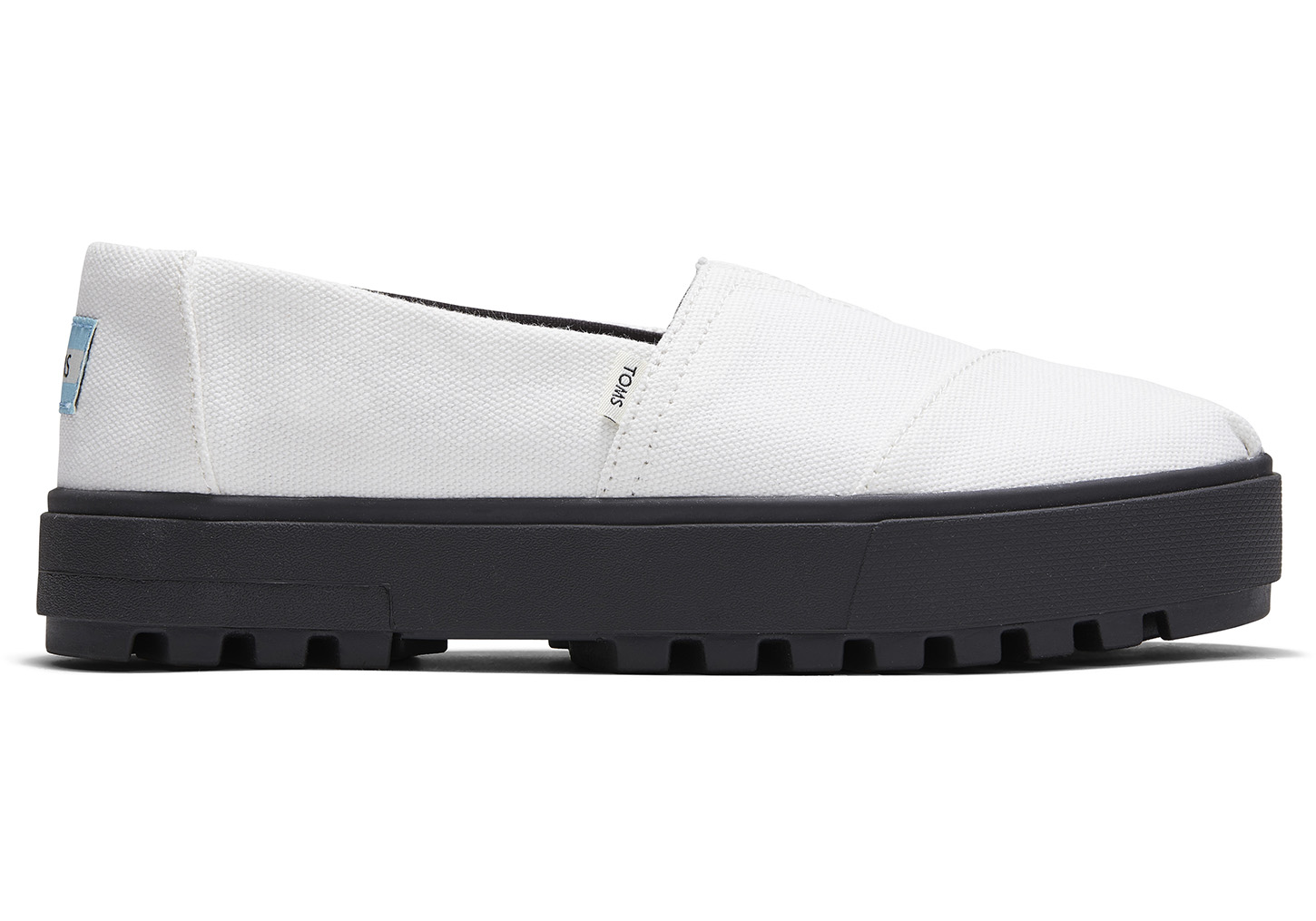 toms Witte Canvas Alpargata Lug Instappers Voor Dames White