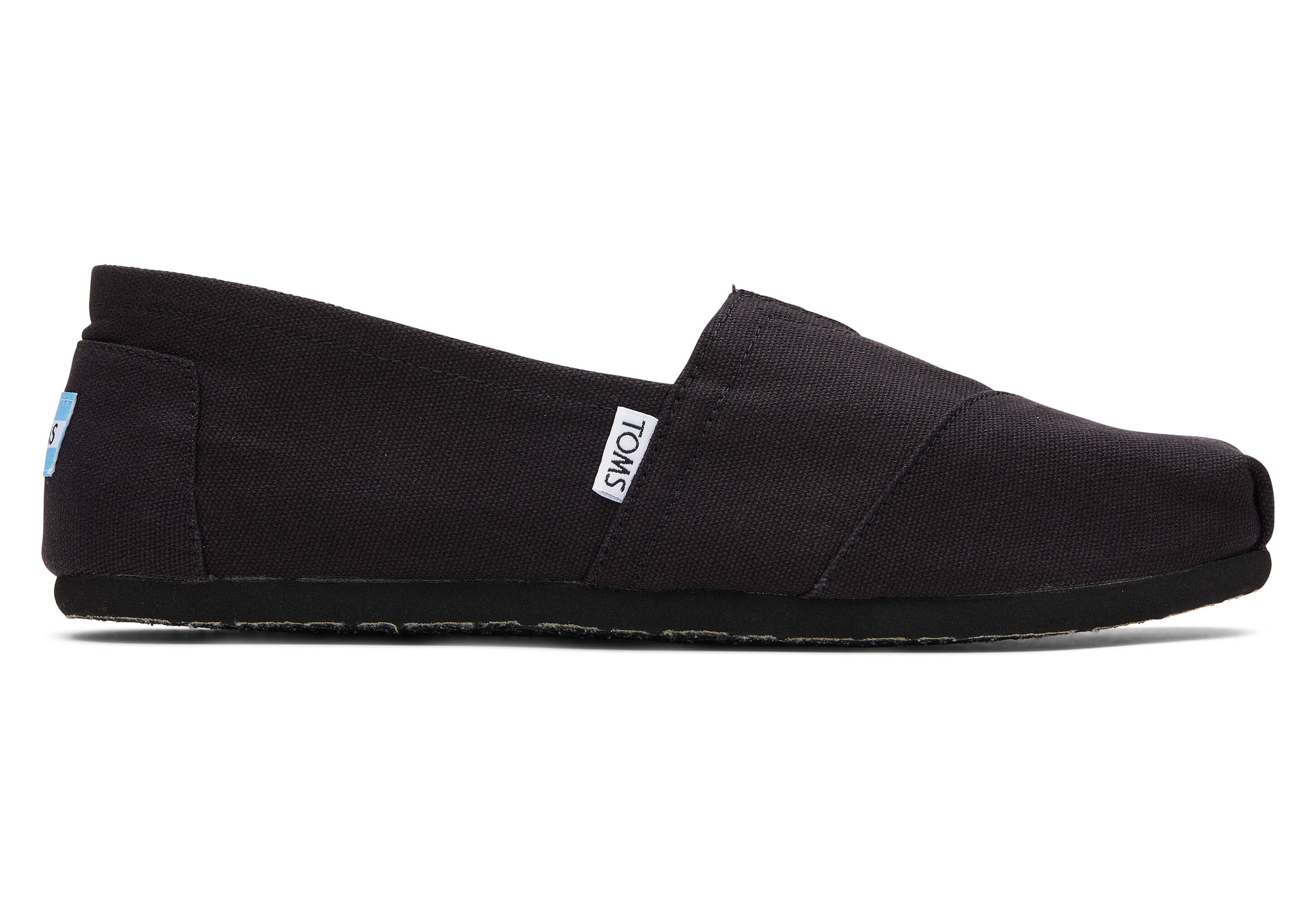 toms Rood Canvas Voor Heren Espadrilles Black on Black