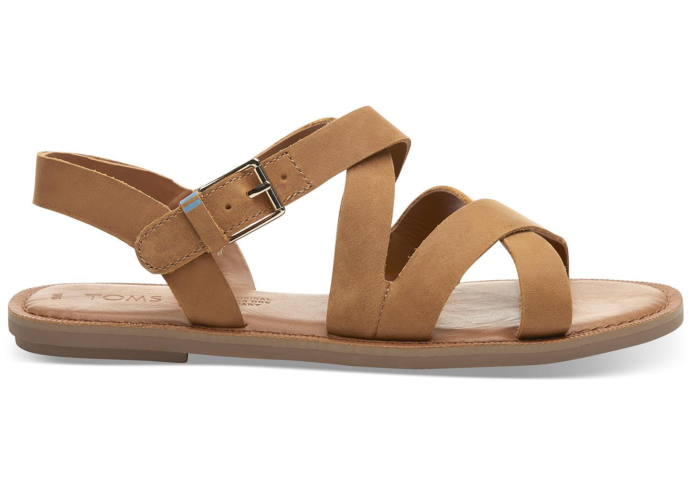 Tan Leather Women's Sicily Sandals | TOMS