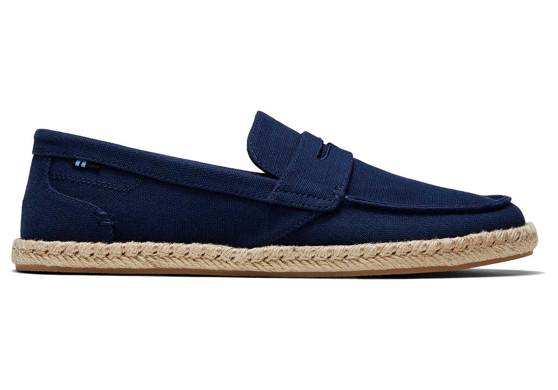 Toms Marineblauwe Slubby Textiel stanford Espadrille Alpargatas Navy Classic