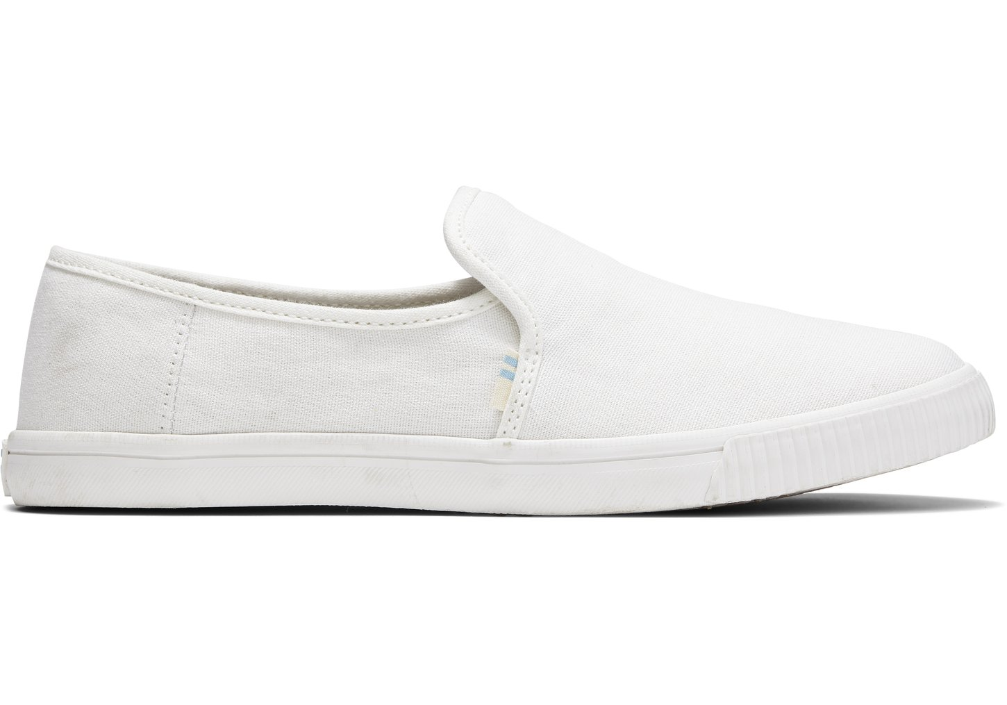 Toms Witte Canvas Clemente Instappers voor Dames White