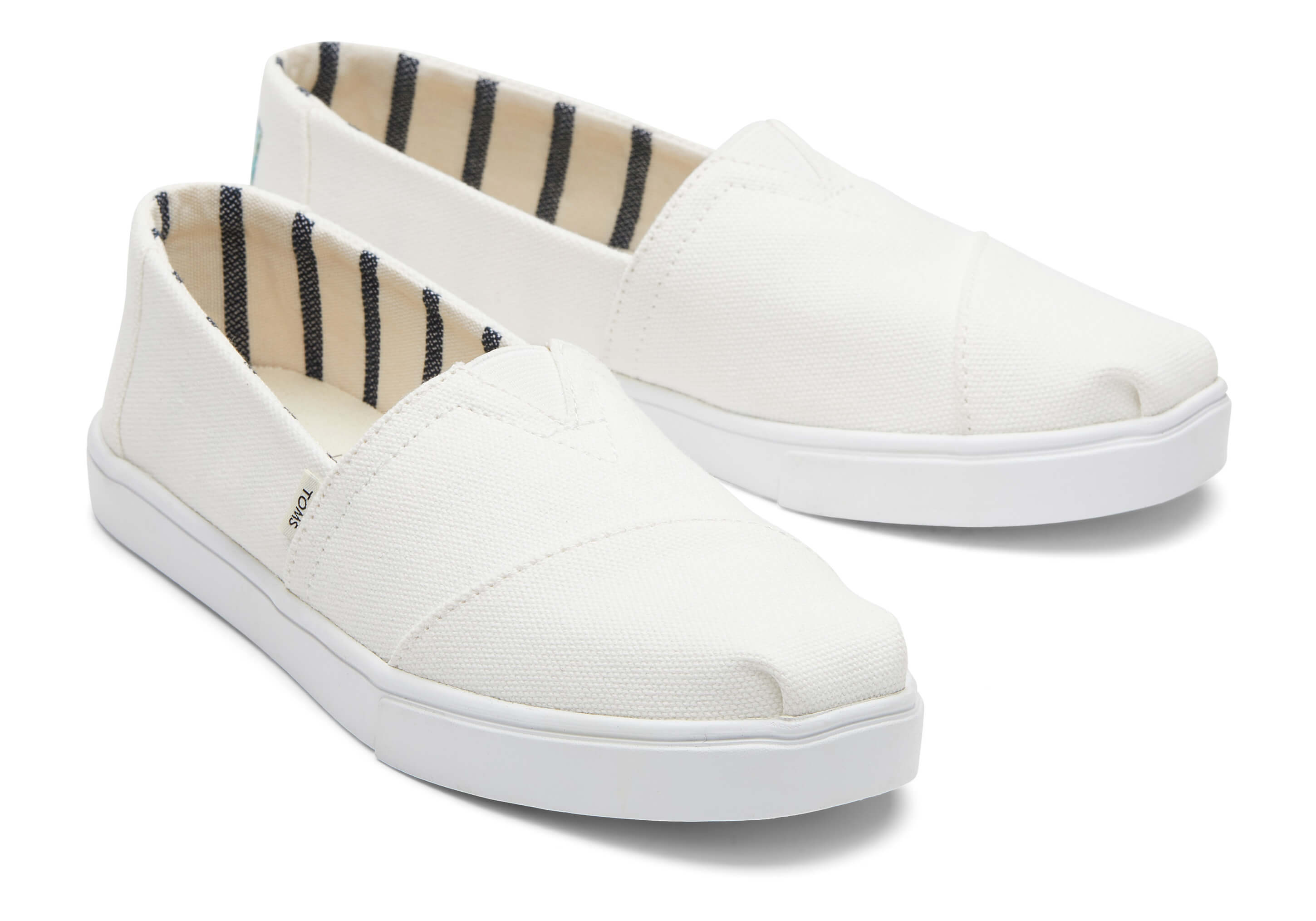 toms Witte Canvas Cupsole Alpargatas Voor Dames Instappers White