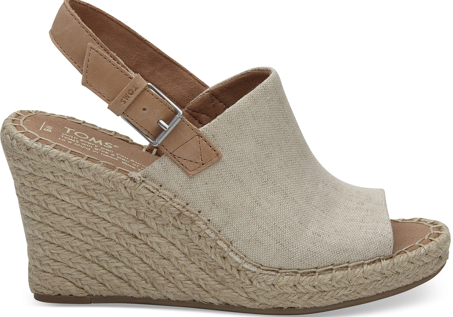 Natural Oxford Women's Monica Wedges | TOMS