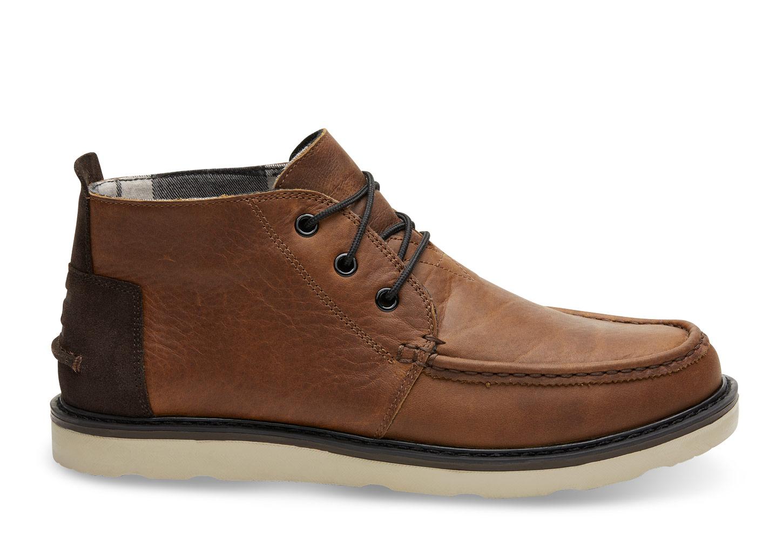 Waterproof Brown Pull Up Leather Mens