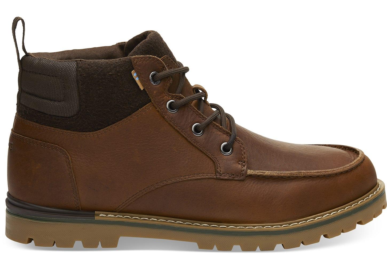 Waterproof Peanut Brown Leather Mens