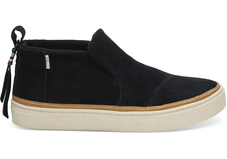 Black Suede Women's Paxton Slip-Ons | TOMS