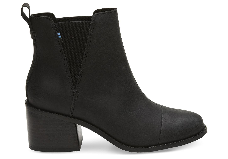 Black Leather Women's Esme Boots | TOMS