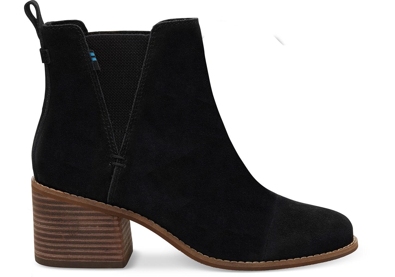 toms Zwarte Suède Esme Booties Voor Dames Laarzen Black